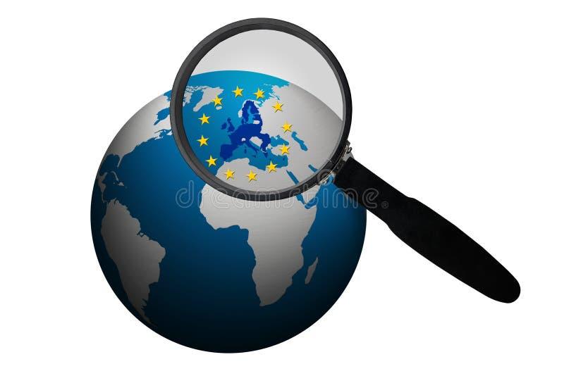 Zaken binnen de Europese Unie stock illustratie
