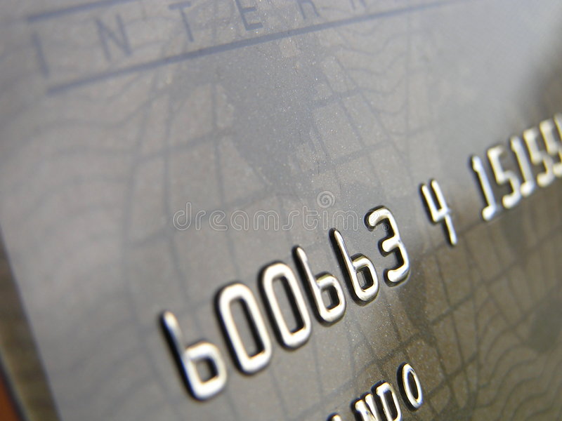 Zaken, Creditcard stock afbeelding