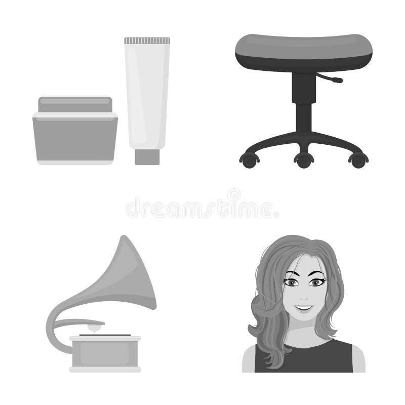 Zaken, de kosmetiek, salon en ander Webpictogram in zwart-wit stijl kapsel, make-up, model, pictogrammen in vastgestelde inzameli vector illustratie