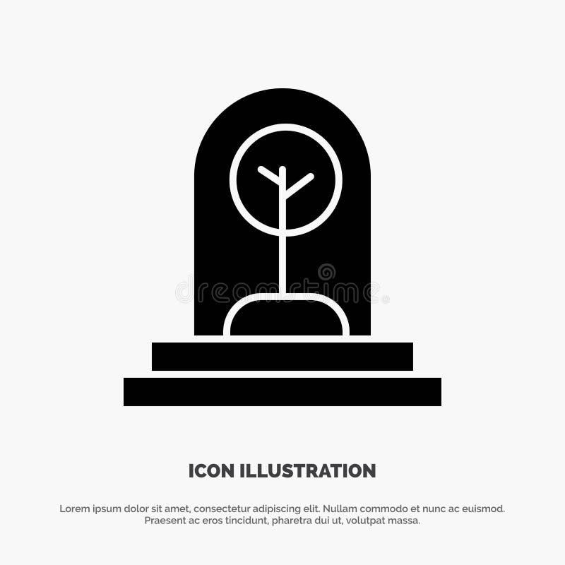 Zaken, de Nieuwe Groei, Installatie, het Pictogramvector van Boom stevige Glyph royalty-vrije illustratie