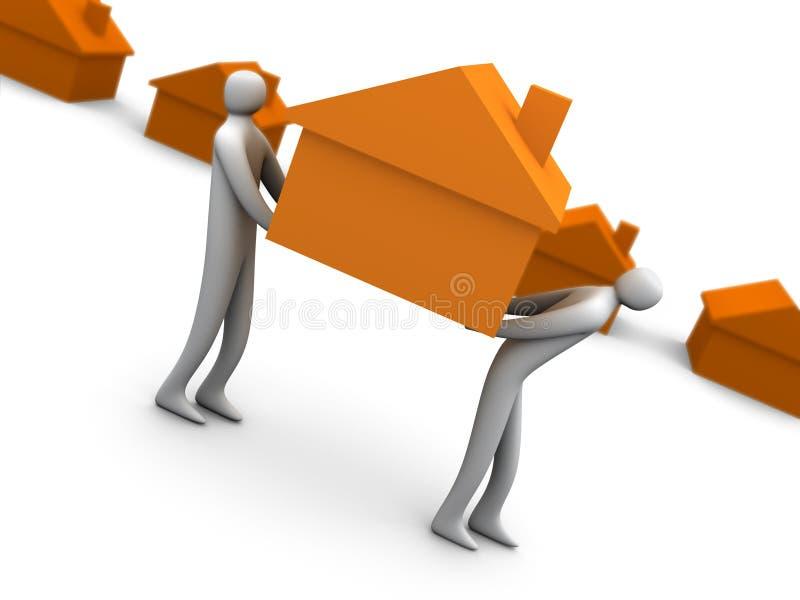 Zaken - de verhuizers van het Huis stock illustratie
