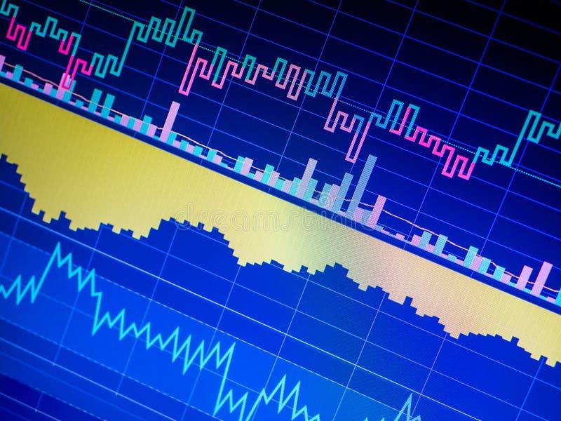 Zaken die financiële die statistieken analyseren op het scherm worden getoond royalty-vrije stock afbeelding