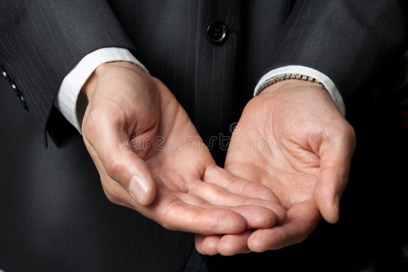 Zaken die Handen helpt stock afbeeldingen