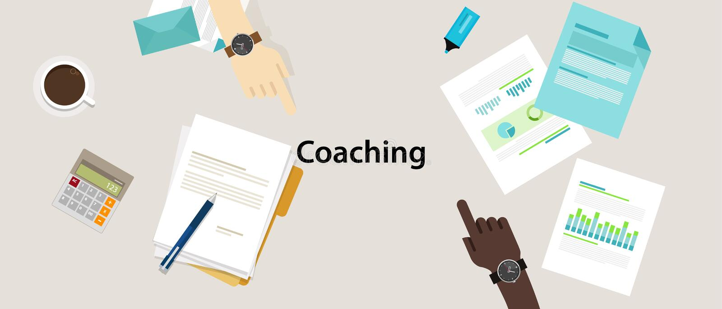 Zaken die professionele management training trainen stock illustratie