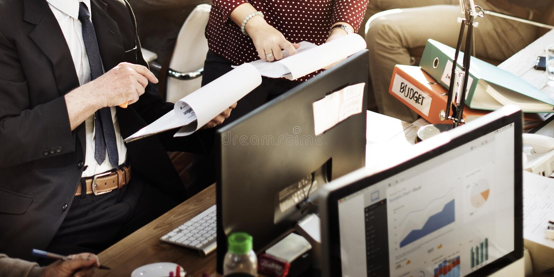 Zaken die Team Discussion Planning Concept op de markt brengen royalty-vrije stock afbeeldingen