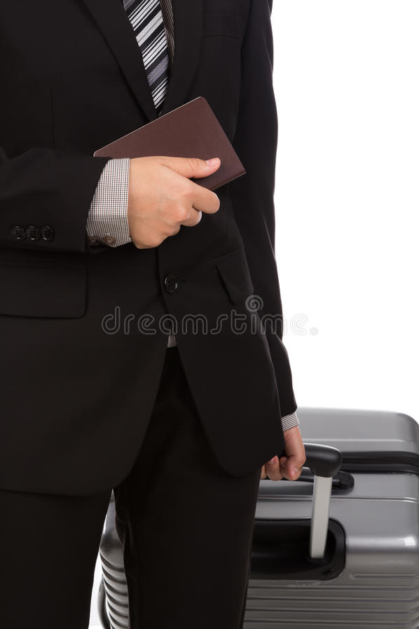 Download Zaken Die Trekkend Koffer Reizen Stock Foto - Afbeelding bestaande uit land, persoon: 54090446