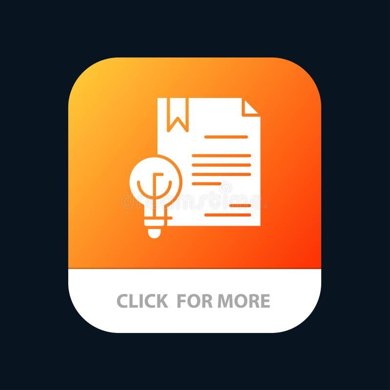Zaken, Digitaal Copyright, Uitvinding, de Knoop van de Wetsmobiele toepassing Android en IOS Glyph Versie royalty-vrije illustratie