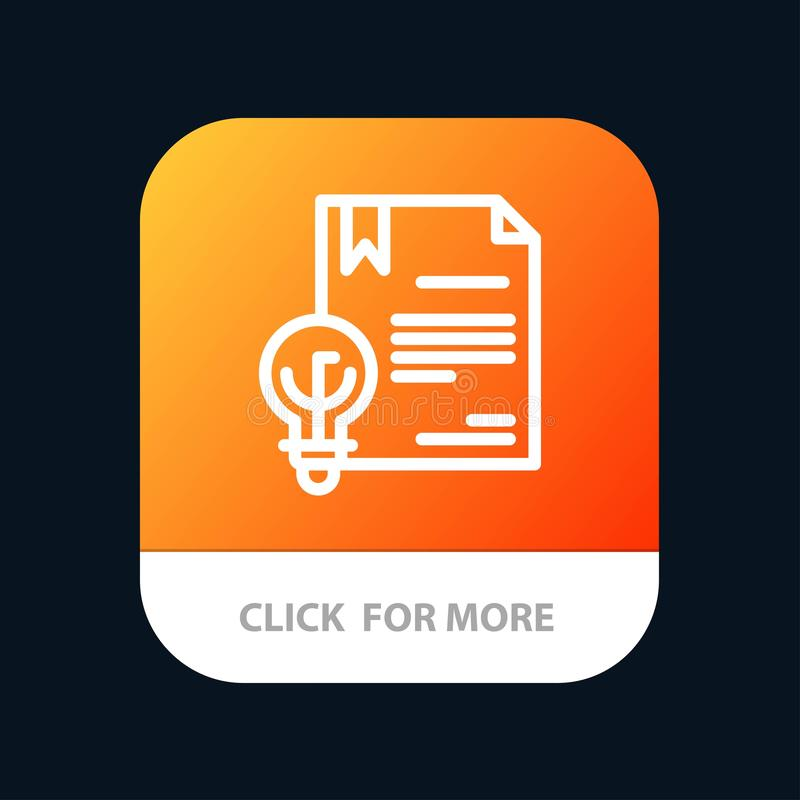 Zaken, Digitaal Copyright, Uitvinding, de Knoop van de Wetsmobiele toepassing Android en IOS Lijnversie vector illustratie