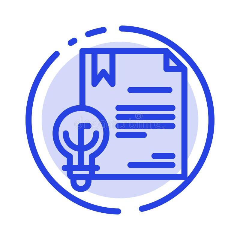 Zaken, Digitaal Copyright, Uitvinding, de Lijnpictogram van de Wets Blauw Gestippelde Lijn royalty-vrije illustratie