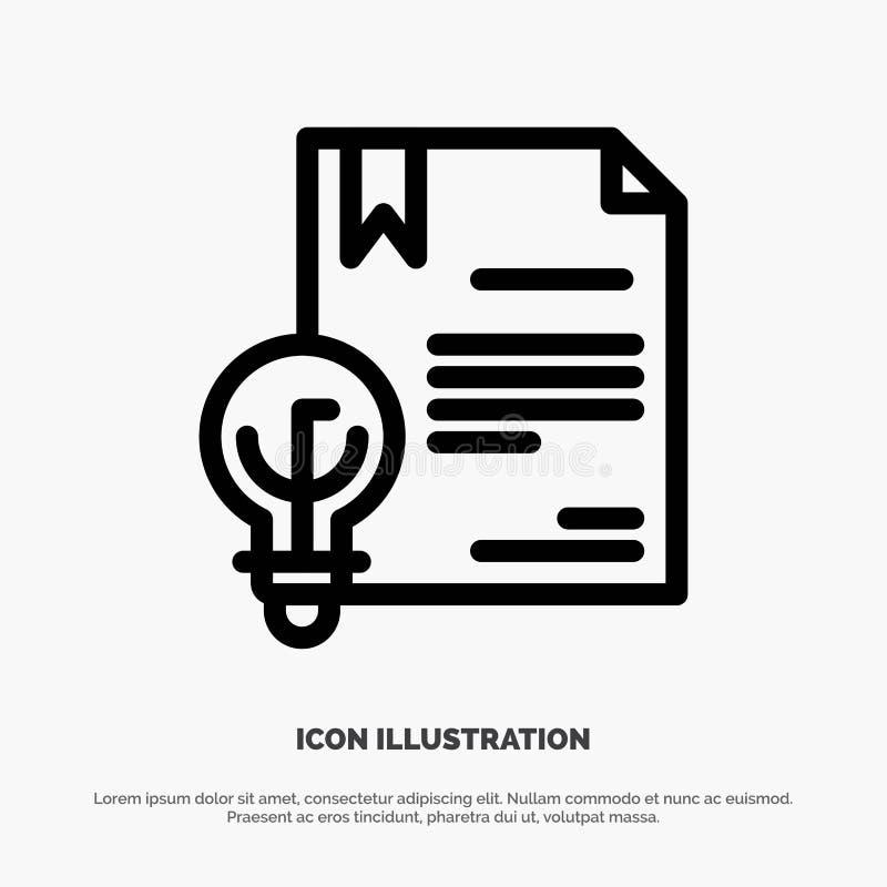 Zaken, Digitaal Copyright, Uitvinding, het Pictogramvector van de Wetslijn royalty-vrije illustratie