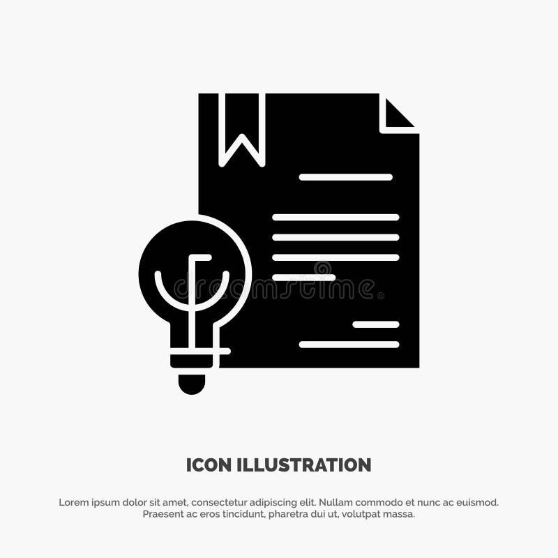 Zaken, Digitaal Copyright, Uitvinding, het Pictogramvector van Wets stevige Glyph royalty-vrije illustratie