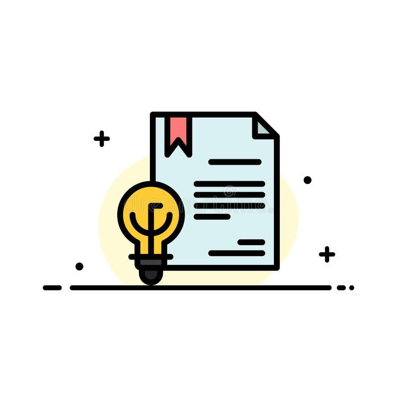 Zaken, Digitaal Copyright, Uitvinding, Malplaatje Wets van de Bedrijfs het Vlakke Lijn Gevulde Pictogram Vectorbanner royalty-vrije illustratie