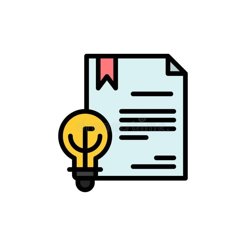Zaken, Digitaal Copyright, Uitvinding, Pictogram van de Wets het Vlakke Kleur Het vectormalplaatje van de pictogrambanner stock illustratie
