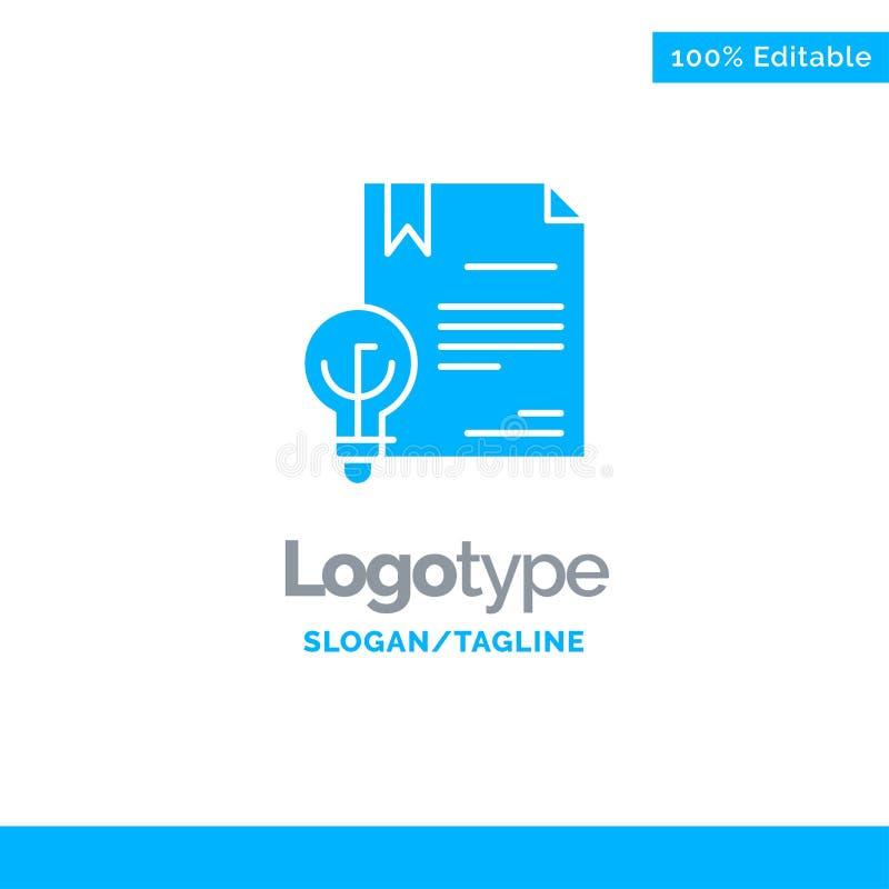 Zaken, Digitaal Copyright, Uitvinding, Wet Blauw Stevig Logo Template Plaats voor Tagline stock illustratie