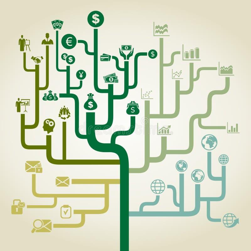 Zaken een labyrint stock illustratie