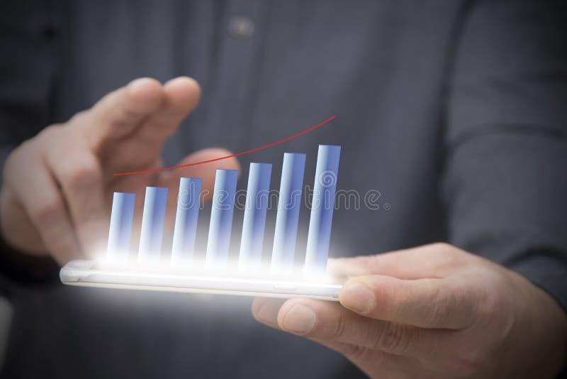 Zaken en de economische groei royalty-vrije stock foto