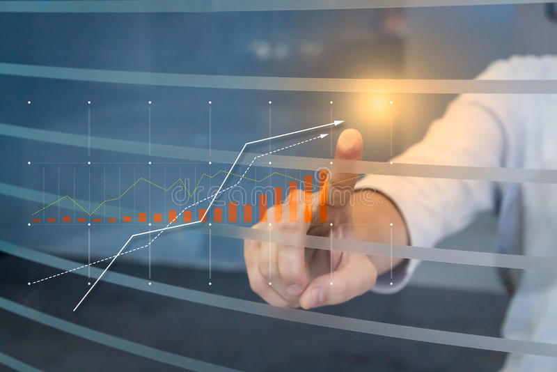 Zaken en de financiële groei royalty-vrije stock afbeelding