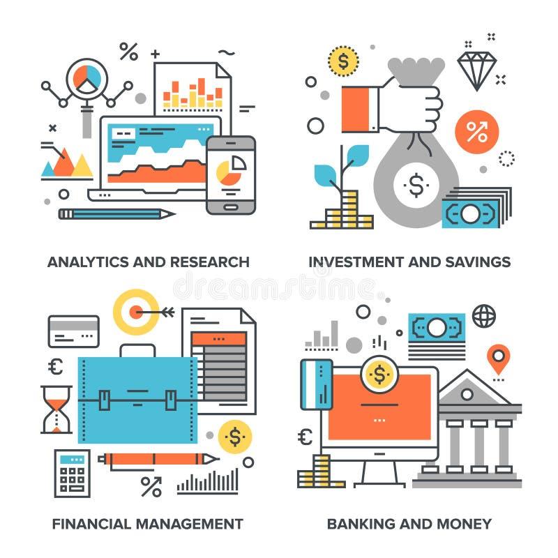 Zaken en Financiën vector illustratie
