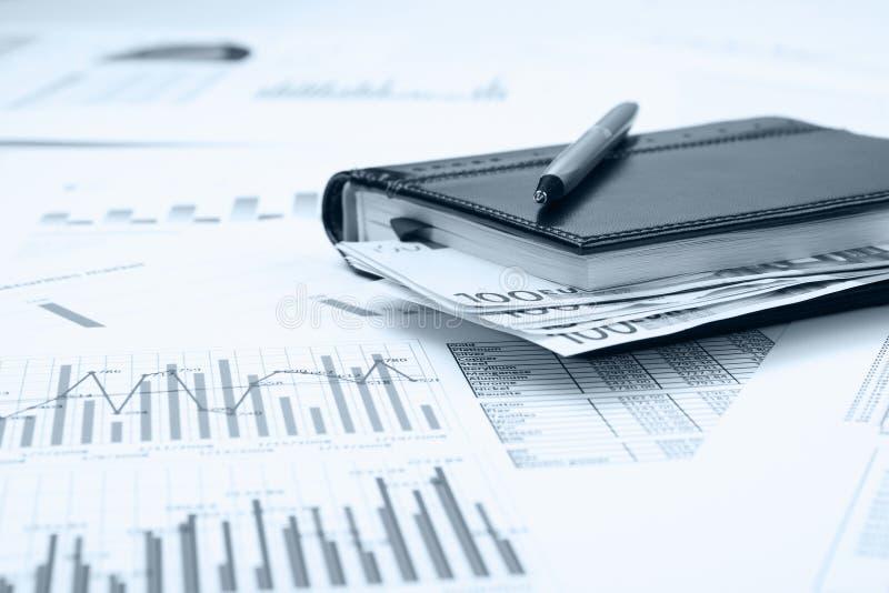 Zaken en financieel stilleven stock foto