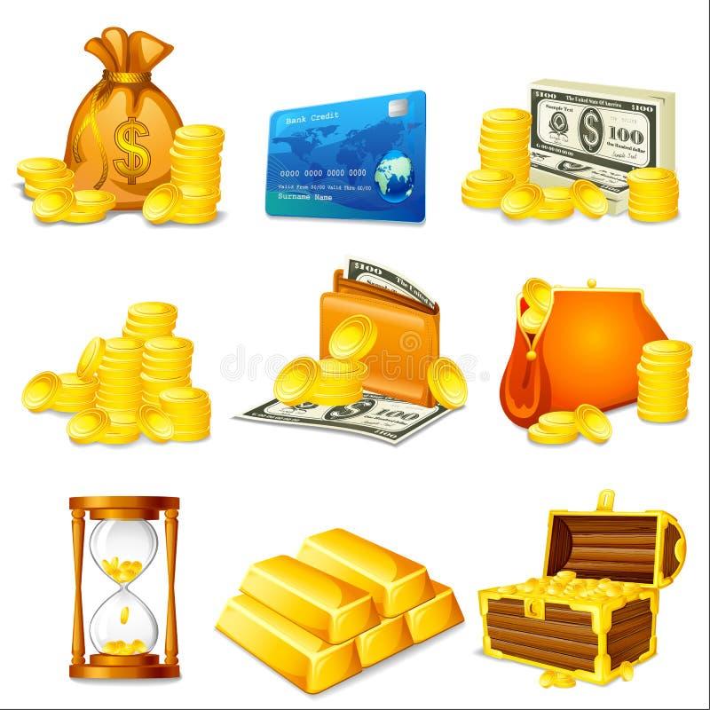 Zaken en Geld stock illustratie