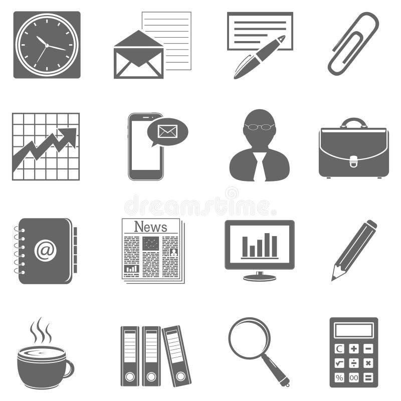 Zaken - Financiën en Bureaupictogrammen royalty-vrije illustratie