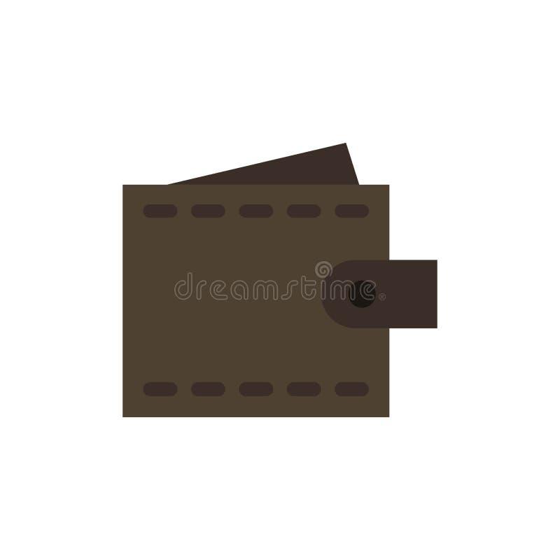 Zaken, Financiën, Interface, Gebruiker, Pictogram van de Portefeuille het Vlakke Kleur Het vectormalplaatje van de pictogrambanne royalty-vrije illustratie