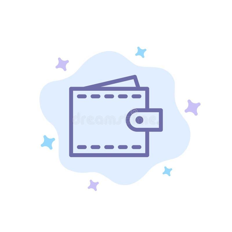 Zaken, Financiën, Interface, Gebruiker, Portefeuille Blauw Pictogram op Abstracte Wolkenachtergrond stock illustratie