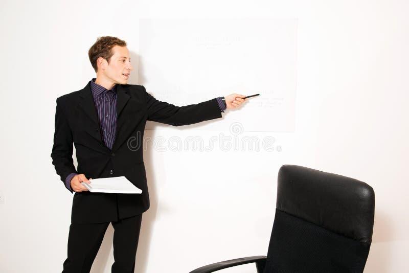 Zaken gekleed mannelijk model stock afbeelding