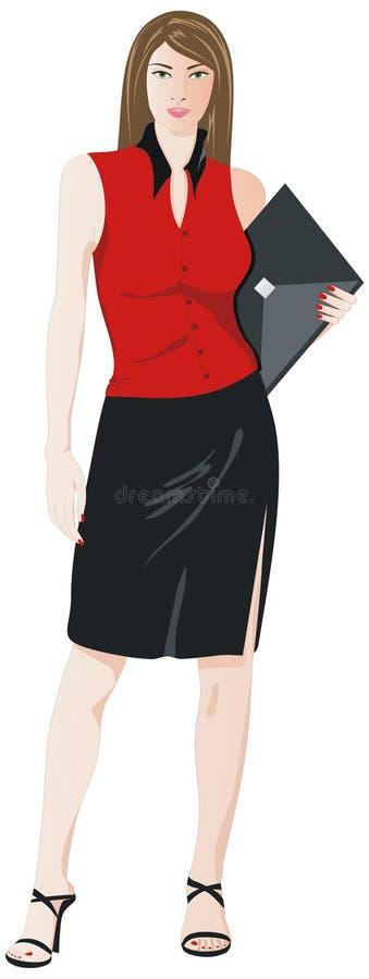 Zaken girl2 vector illustratie