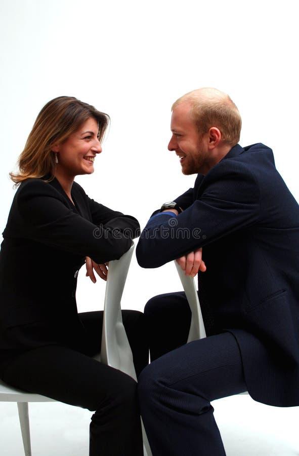 Zaken - het gesprek stock afbeelding