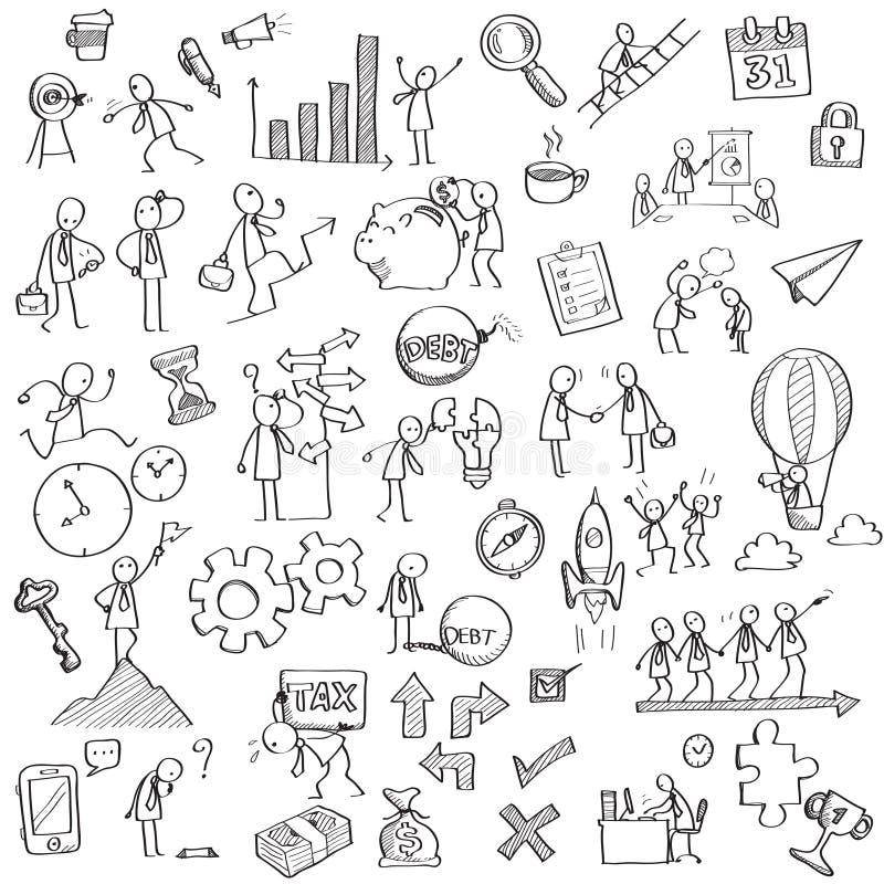 Zaken in het schetsen vector illustratie