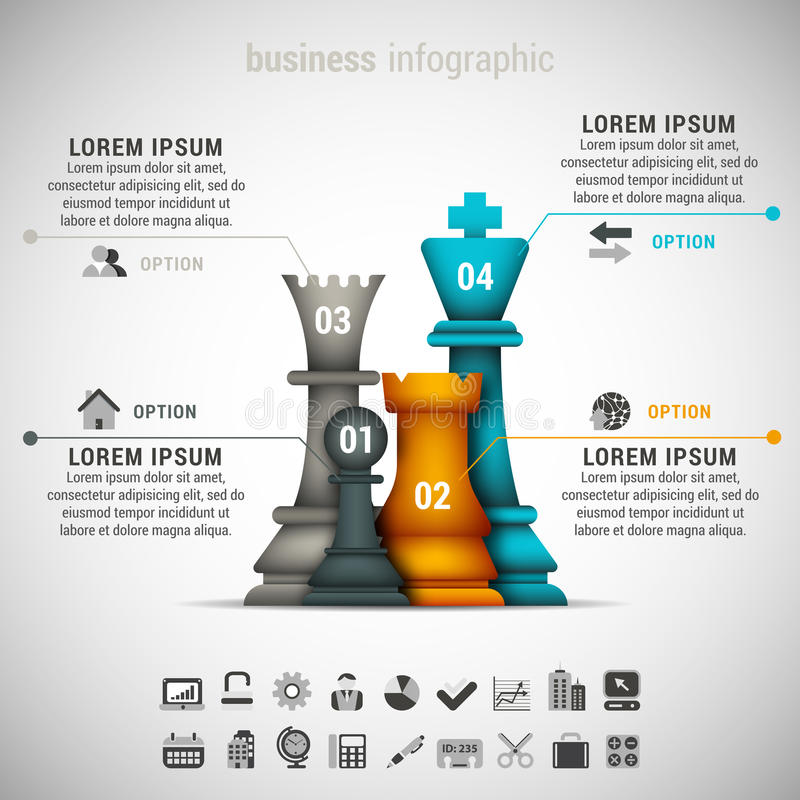 Zaken Infographic vector illustratie