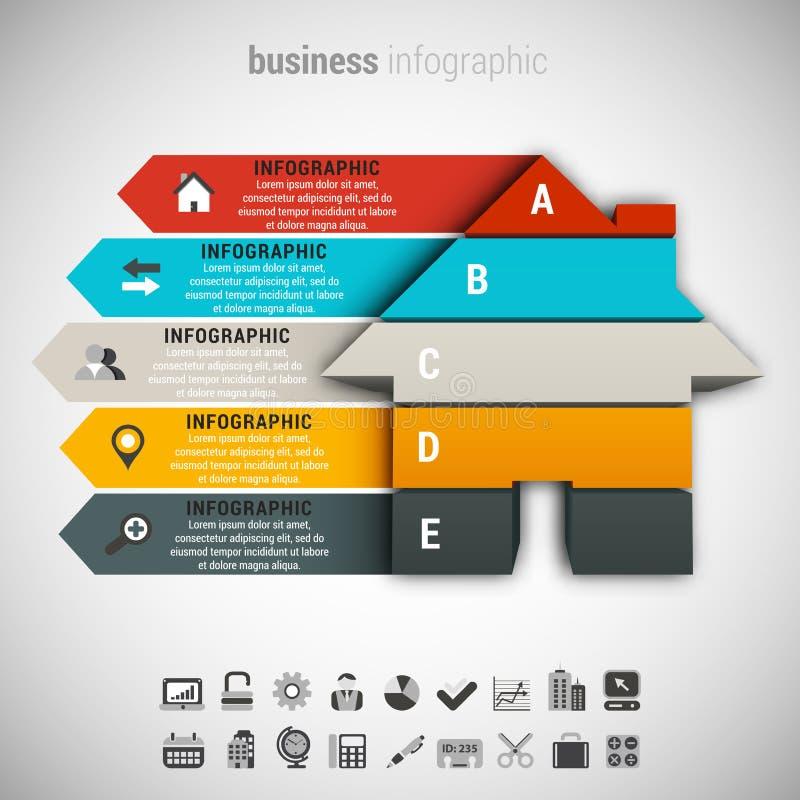 Zaken Infographic stock illustratie