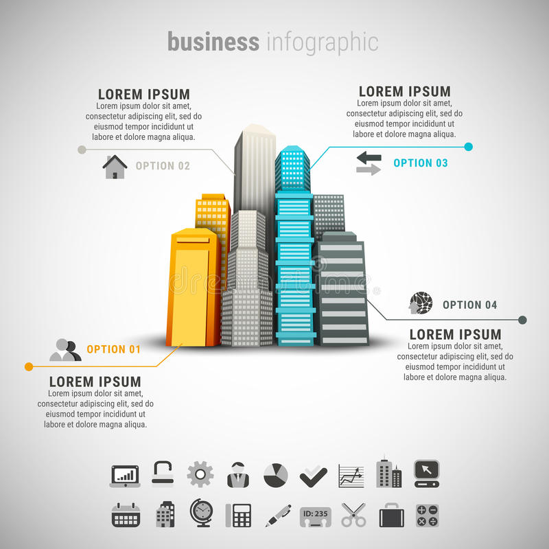Zaken Infographic royalty-vrije illustratie