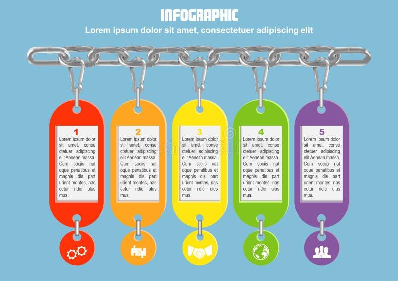 Zaken infographic met ketting vector illustratie