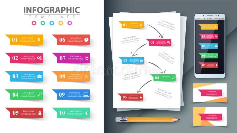 Zaken Infographic Model voor uw idee stock illustratie