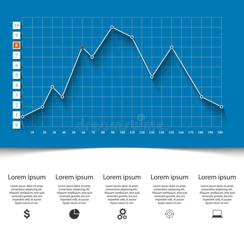 Zaken Infographics 3D Grafieken en Grafieken royalty-vrije illustratie