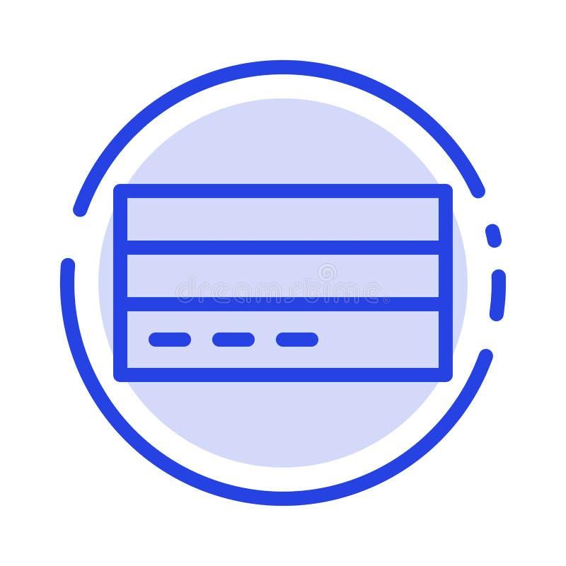 Zaken, Kaart, Krediet, Financiën, Interface, de Lijnpictogram van de Gebruikers Blauw Gestippelde Lijn vector illustratie
