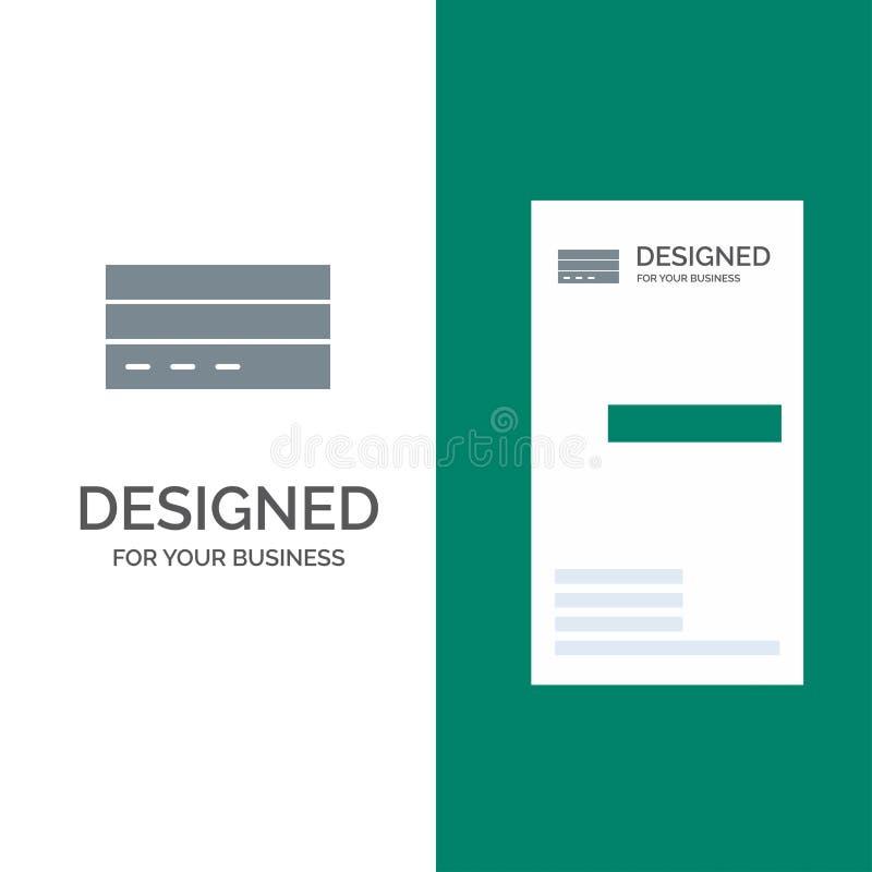 Zaken, Kaart, Krediet, Financiën, Interface, Gebruiker Grey Logo Design en Visitekaartjemalplaatje royalty-vrije illustratie