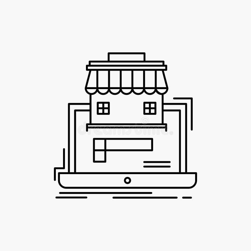 zaken, markt, organisatie, gegevens, het online Pictogram van de marktlijn Vector ge?soleerde illustratie vector illustratie
