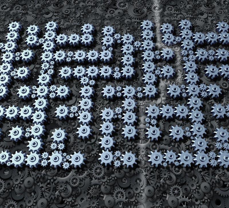 Zaken Maze Solution Stock Afbeelding