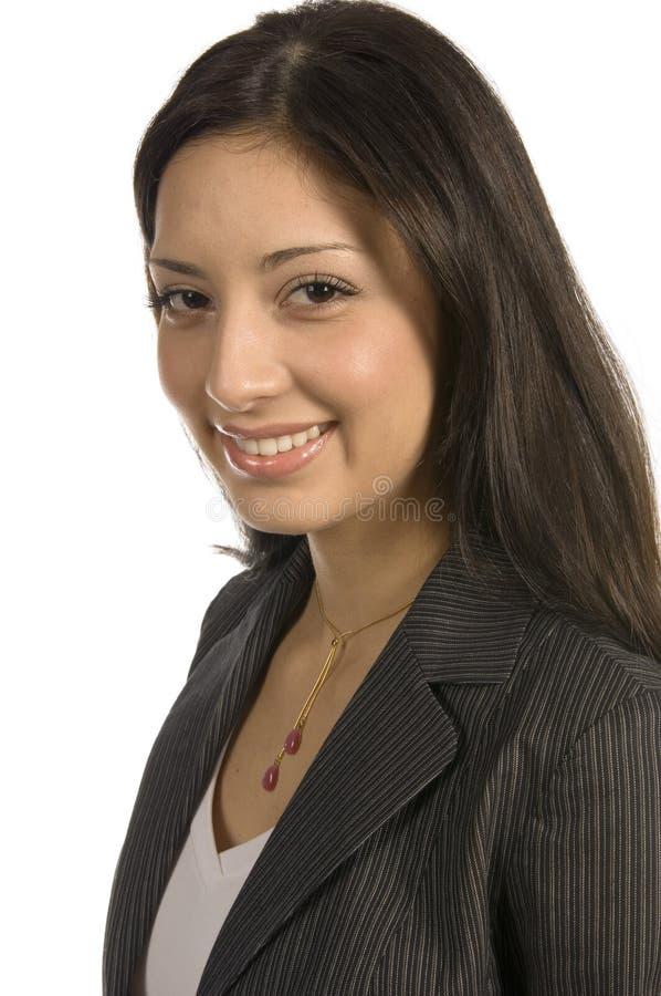 Zaken met een glimlach stock fotografie