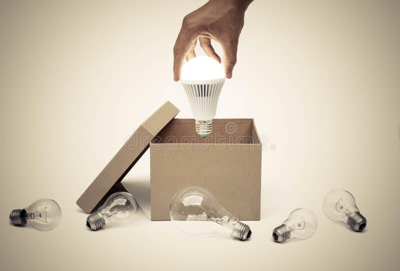 Zaken met nieuwe idee en innovatie stock afbeelding