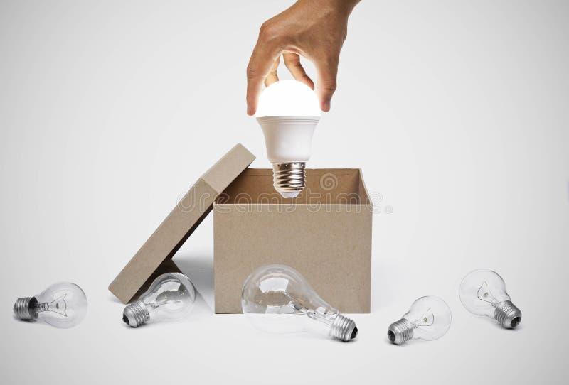Zaken met nieuwe idee en innovatie stock afbeeldingen