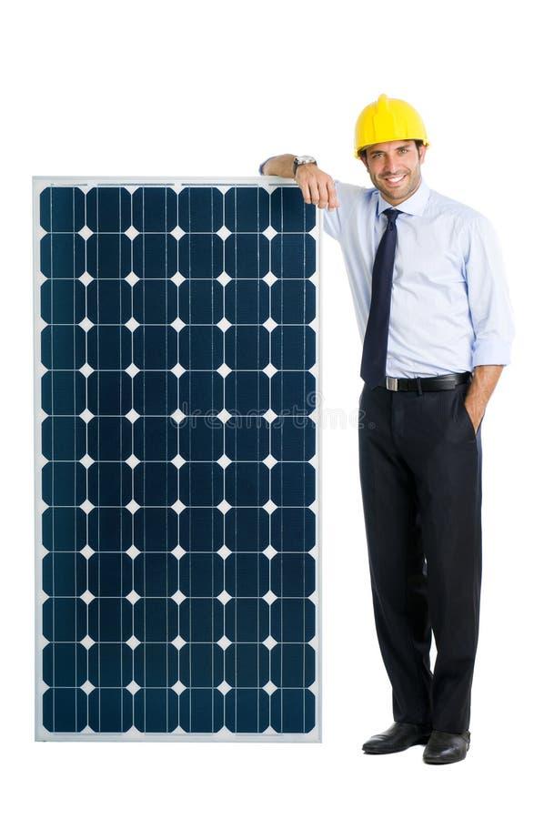 Zaken met zonne-energie royalty-vrije stock fotografie