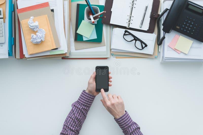 Zaken mobiele app stock foto