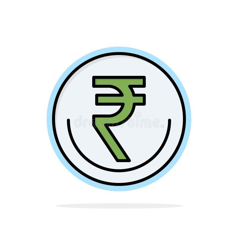 Zaken, Munt, Financiën, Indiër, Inr, Roepie, van de Achtergrond handels Abstract Cirkel Vlak kleurenpictogram royalty-vrije illustratie