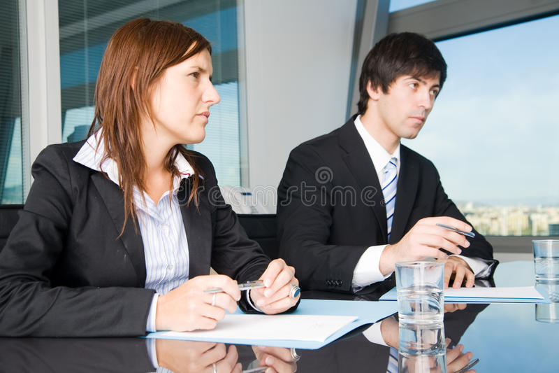 Zaken negotiatons stock afbeeldingen