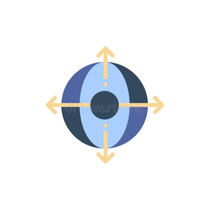 Zaken, Plaatsing, Beheer, Pictogram van de Product het Vlakke Kleur Het vectormalplaatje van de pictogrambanner royalty-vrije illustratie