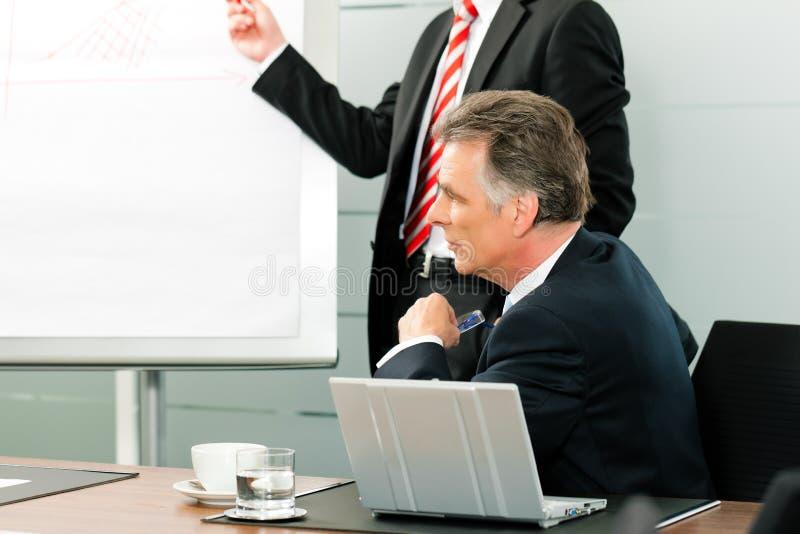 Zaken - presentatie voor de werkgever royalty-vrije stock foto